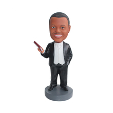 Custom famous black clothes people bobble head in resin crafts