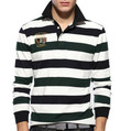 100 Cotton Honeycomb Mens Pre shunk Striped Cotton polo golf shirt,polo t-shirt