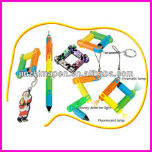 promotional fashion folding pen with light