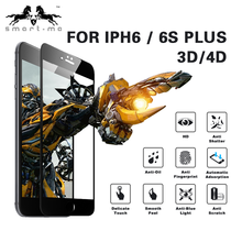 Best price HD Anti-fingerprint 3D mobile phone glass screen protector for iphone 6/6S plus
