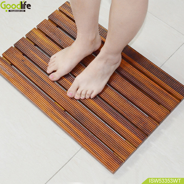 Bamboo mat and pad anti water for shower and bathroom from guangdong china