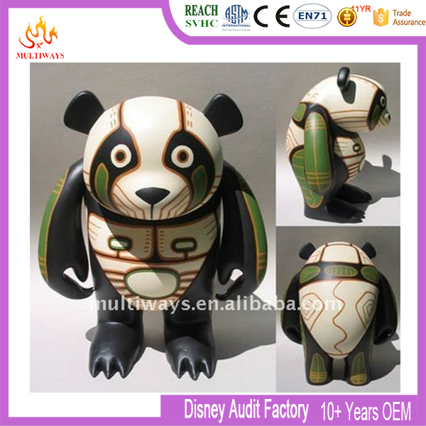 Make Your Own Plastic Animal Figure Lovely Panda Toy Figure