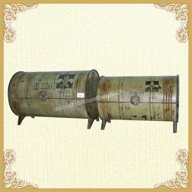 Metal Chinese Handpainted Storage Trunk