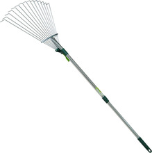 Garden Tools 15T 60# High Quality Carbon Steel Adjustable Leaf Rake with Aluminium Handle