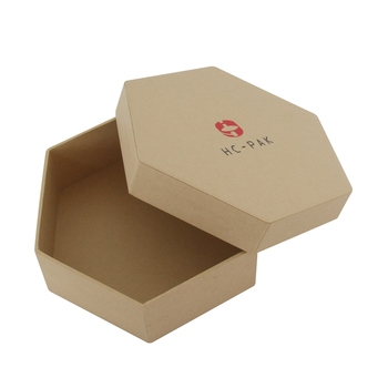 Fancy round corner christmas star hexagon packaging paper box