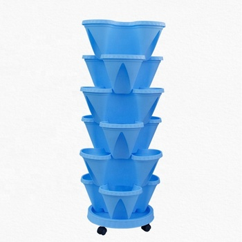 hydroponic outdoor garden strawberry pot  plastic vertical planter tower for flower