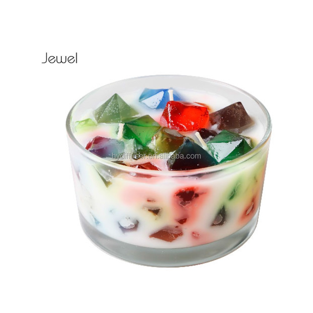 Colorful jelly wax scented candles for decoration buy for Decoration wax