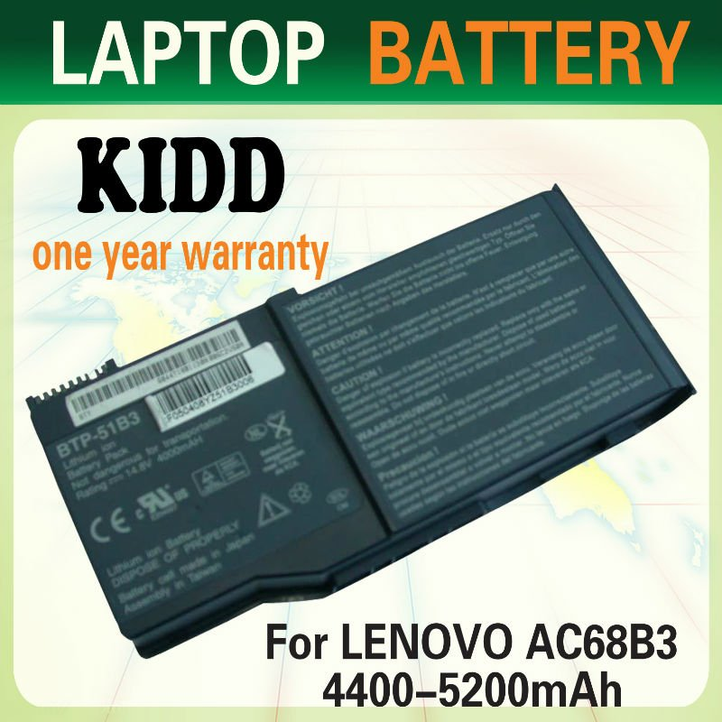 8cells compatible/rechargeable laptop battery for lenovo Y800,Y810,L800,BTP-51B3 laptop battery