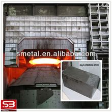 magnesia-carbon bricks for slag lines and walls of steel ladles