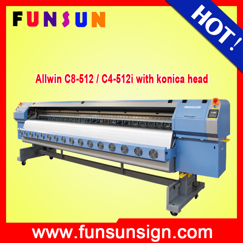 Allwin C8-512 / C4-512i Direct price in china flex allwin konica digital printing machine