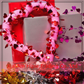 New Valentine's Day Wire Garland Red metallic Hearts wedding party decoration