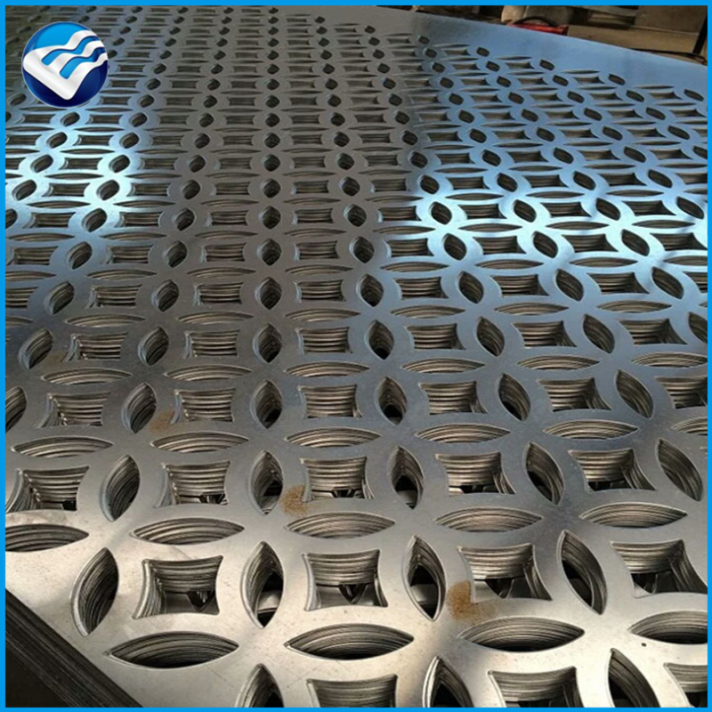 commercial architectural exterior decorative perforated metal mesh hot rolled 2mm facades