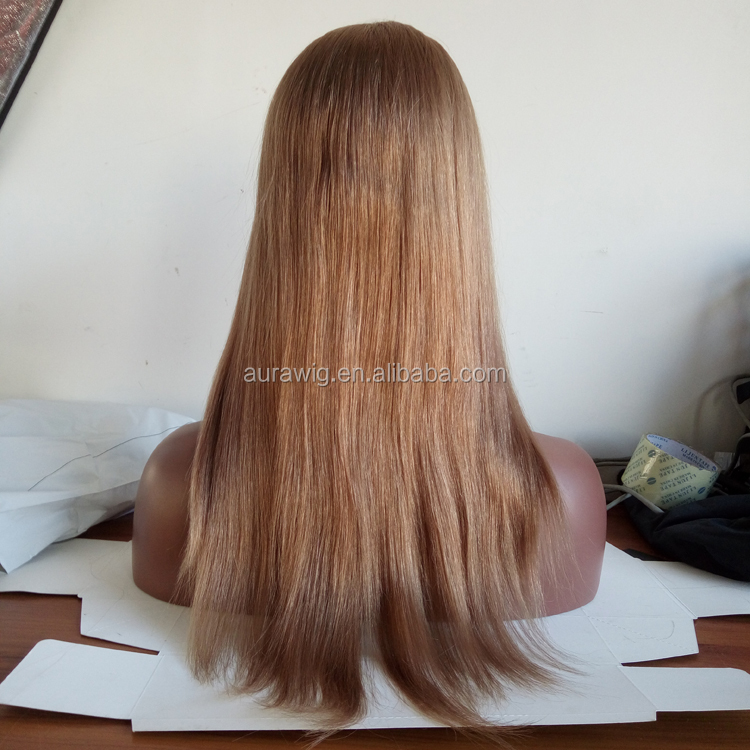 China Vendors Wholeslae Silky Straight Weaves Virgin Raw Russian Human Hair Wigs Popular Color 10 Machine Made Wigs
