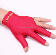 High Quality Spandex Snooker Billiard Glove Pool Left Hand Three Finger