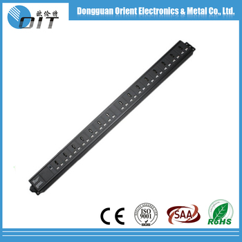 10A 19 inch 12 ways vertical Universal PDU with power indicator
