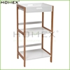 Bamboo and MDF Shelf With White Lacquered Removable Tray/Homex_BSCI