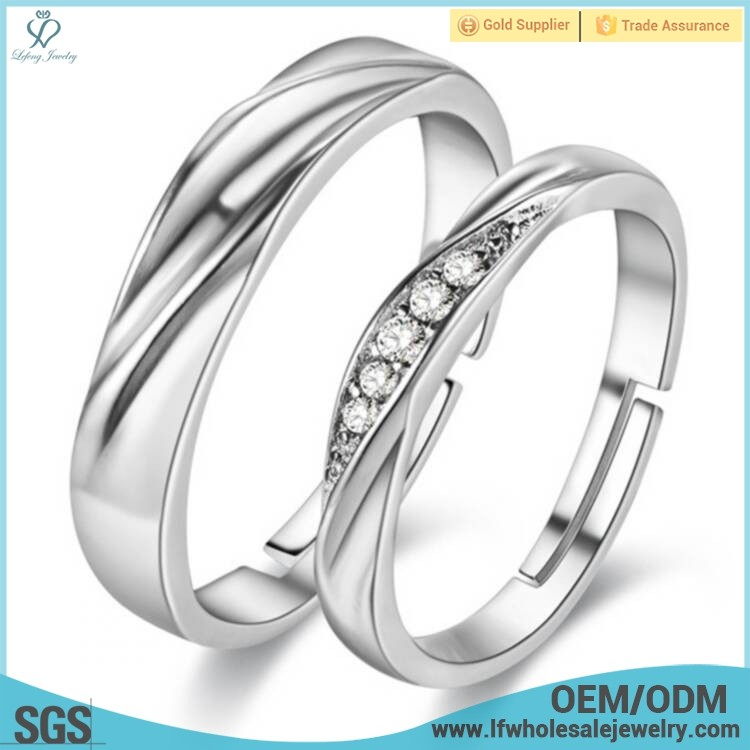 Wholesale adjustable moving spinner walmart wedding 925 silver reversible ring