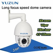 3MP 30x zoom outdoor long range 200 meter distance cctv ptz ip camera