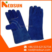 Reinforce leather welding gloves price competitive