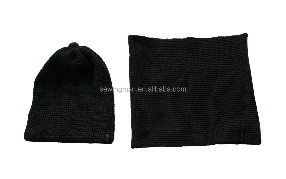 fashional winter knitted hat and scarf set