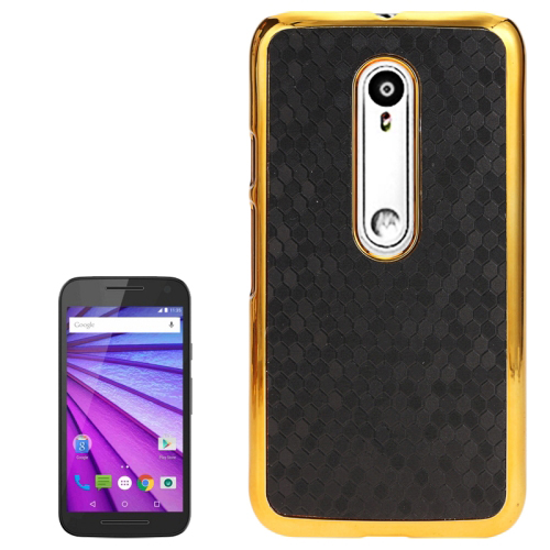 Leather Coated Back Case For Moto G3 mobile phone, Factory Price for Moto G3 Back Cover
