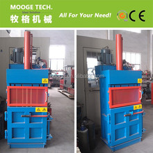 plastic waste flakes hydraulic compress/compactor baler