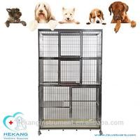 Made in China vet stainless steel three layer dog kennel cage