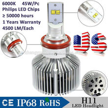 The 5th Generation Philip s LED H11 35W 7000LM/set Car LED headlight lamp led car light