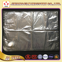 Custom size 5L 10L transparent Packaging Bag in Box for Liquid/Oil/wine/juice