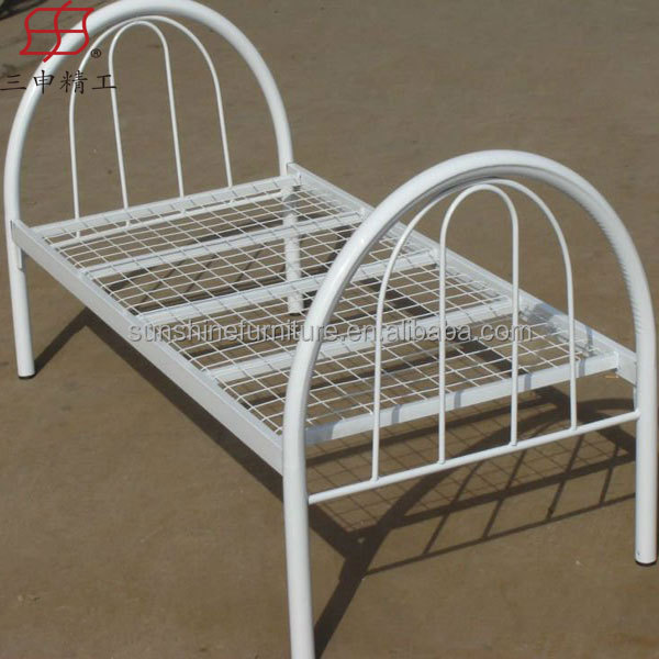 Simple steel bed cots iron cots single queen size iron bed