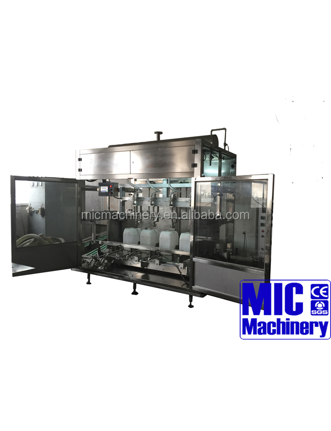 MIC-ZF4 4 heads weigh filling machine for big volume 5-25L container barrel for oil petroleum with ce