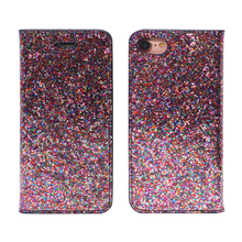 2018 fashion new glitter pu leather stand flip wallet phone case for iphone 5 6 7 8 plus x