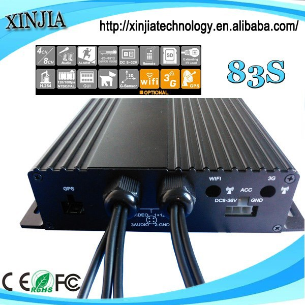 4 channels H.264 SDcard 3G 4G WiFi GPS Car DVR MOBILE DVR