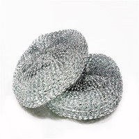 Household Daily Necessity Products Kitchen Cleaning Galvanized Wire Scourer Pot Dish Cleaning Mesh Scourer/best price
