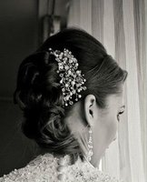 Chantel hear Piece wedding hair accessory