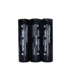 Foradepower PROTECTED 3.7V 18650 3200mAh High Drian Hid Flashlight Battery With Plastic Case