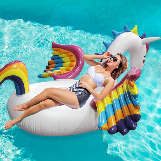 White Rainbow Inflatable unicorn float for pool 2017 new style pineapple float