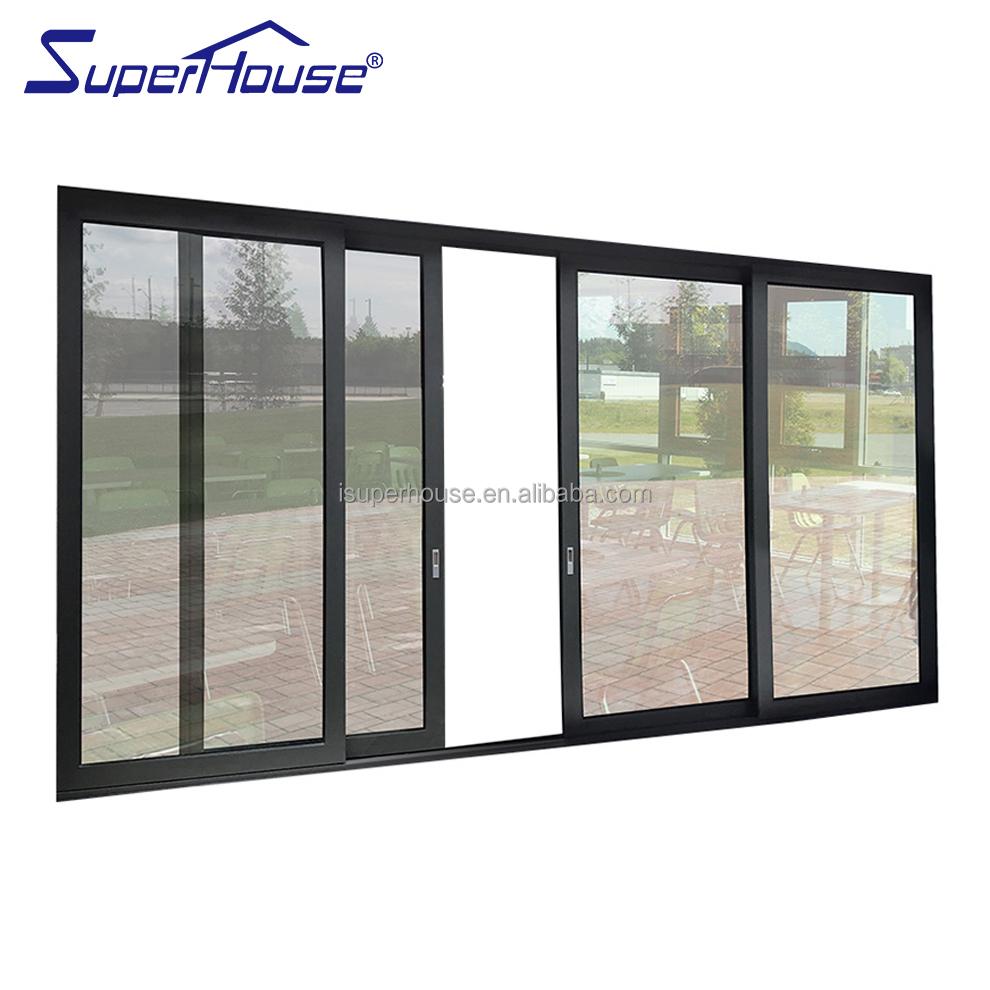 Soundproof Interior Sliding Aluminum Glass Door For Living Room Balcony