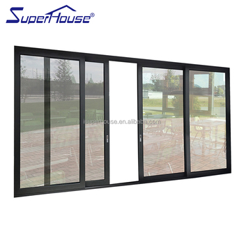 soundproof interior sliding aluminum glass door for living room