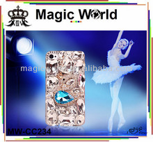 Swan crystal phone cover case,cellphone covers,mobile phone