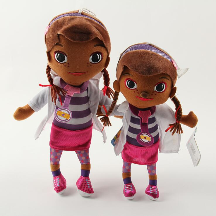 1pcs 28cm/35cm Size New Coming Doc McStuffins Doctor Girls Plush Toys Stuffed Dolls Brinquedos Factory Price kids toy gift