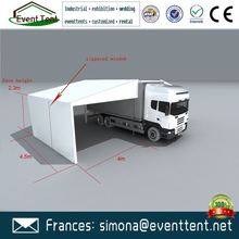 Guangzhou factory price large clear span white top roof car storage tent sale