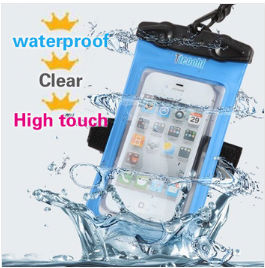 Wholesale! PVC Bag Waterproof Phone Case Underwater Phone Pouch Dry For Iphone 4 /5S For Samsung S2/S3