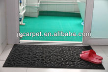 100 polyester surface rubber backed bathroom rug