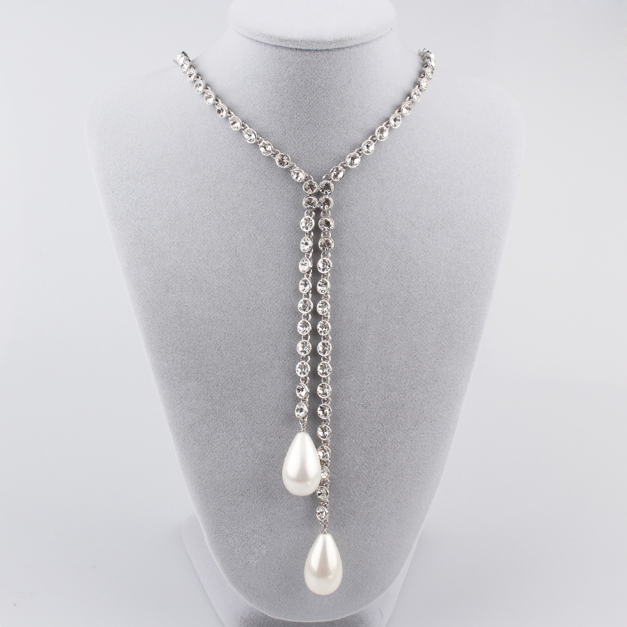 Fashion Jewelry Accessories Crystal Wedding Necklace
