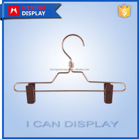 child size aluminum wire pants hanger with clips