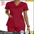 Comfortable workwear salon uniform medical scrubs top