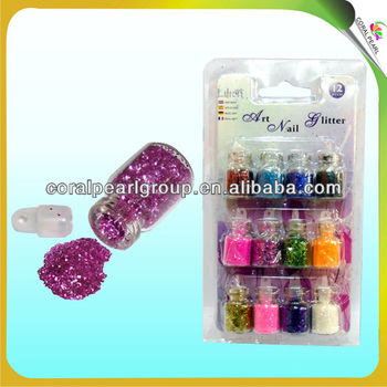 12pcs Acrylic Nail Powder in Fashion Colors
