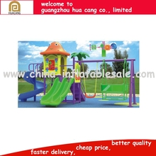 Promotion price plastic kids animal outdoor equipment with swing