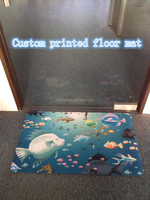 2014 new design custom printed natural rubber floor mat,non slip floor mat